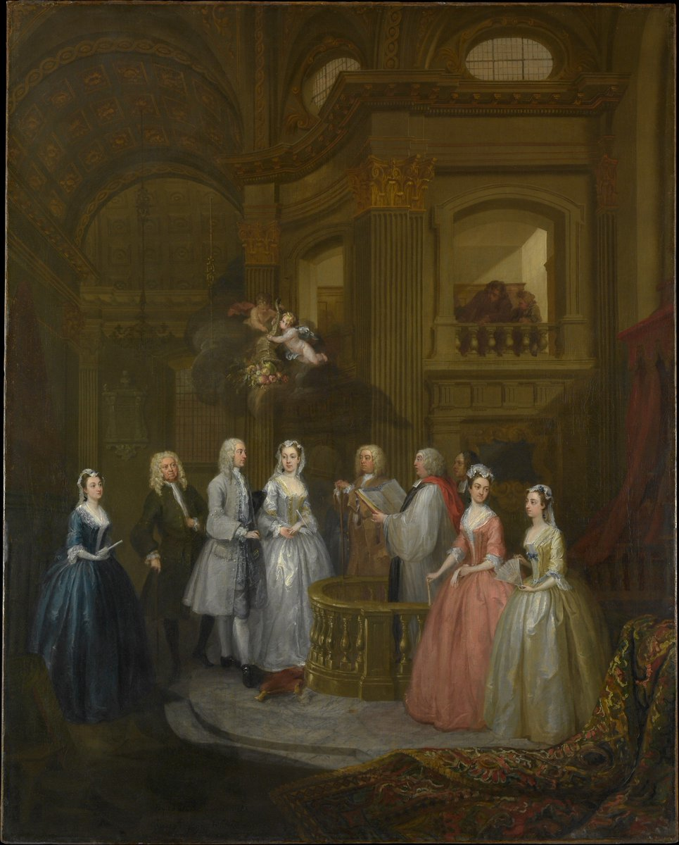 William #Hogarth - the wedding of Stephen Beckingham and Mary Cox 1729 Met Fifth Avenue in Gallery 629 #finearts #britishpaintings #peinture <br>http://pic.twitter.com/7DVMR40gCT