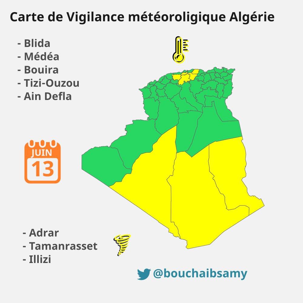 Carte Algerie Meteo.Samy Bouchaib ⵙⴰⵎⵢ سامي On Twitter Canicule