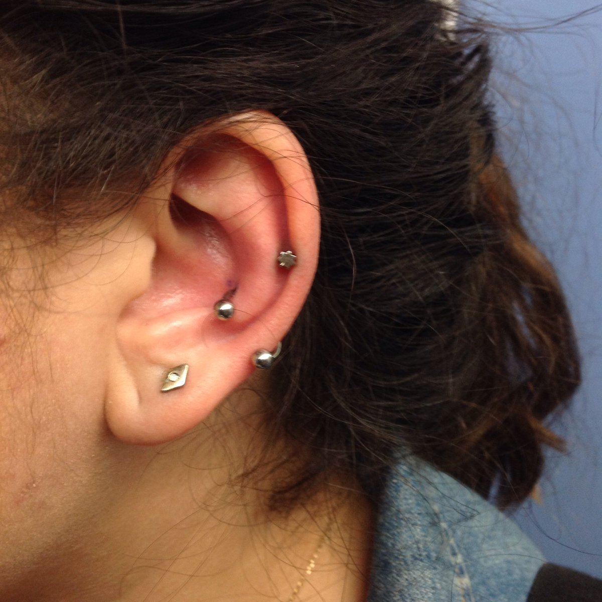 Wizz Tattoo Shop On Twitter Orbital Conch Piercing Made Here At