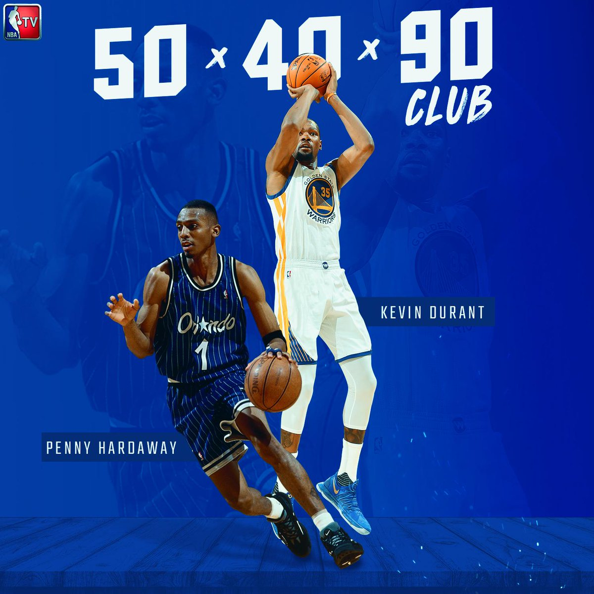 KD joined Penny Hardaway as the only players to shoot 50/40/90 for an entire #NBAFinals series (min. 50 FGA/20 3PA/ 20 FTA).