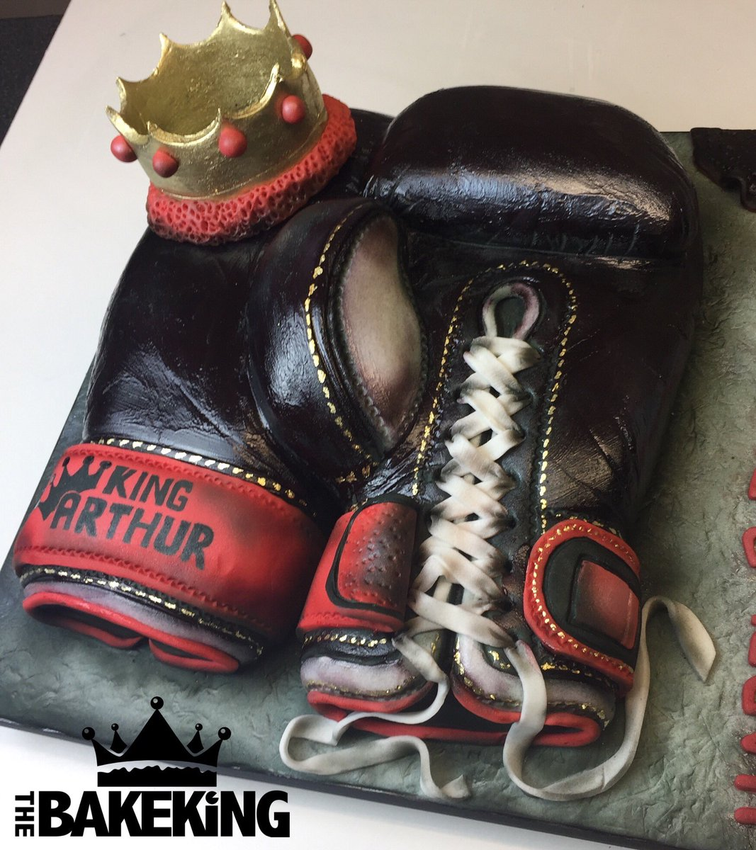 Pleasant The Bakeking On Twitter Boxing Gloves Cake Happy Birthday To Birthday Cards Printable Inklcafe Filternl