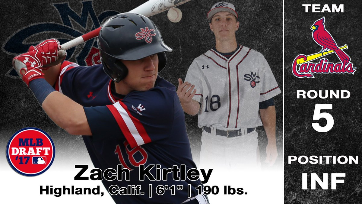 Another Gael goes! Zach Kirtley drafted in the 5th Round by the @Cardinals https://t.co/DPeYzUrcpk