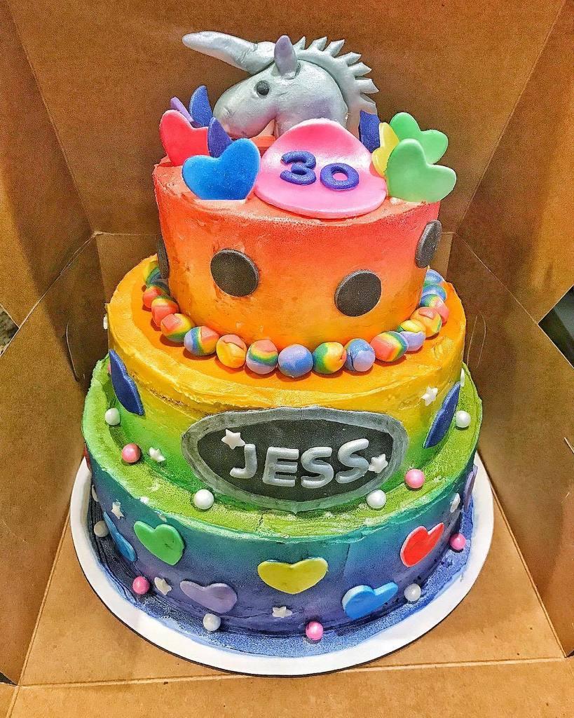 Fantastic Christina Vene On Twitter Lisa Frank Inspired Birthday Cake The Funny Birthday Cards Online Alyptdamsfinfo