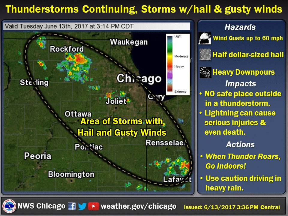 Nws Chicago On Twitter Storms Continuing Circled Area Location Of