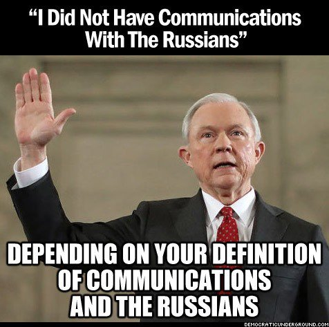I have never seen a man have as much difficulty answering a YES or NO question as #JeffSessions! #SessionsHearing #SessionsDay #TrumpRussia