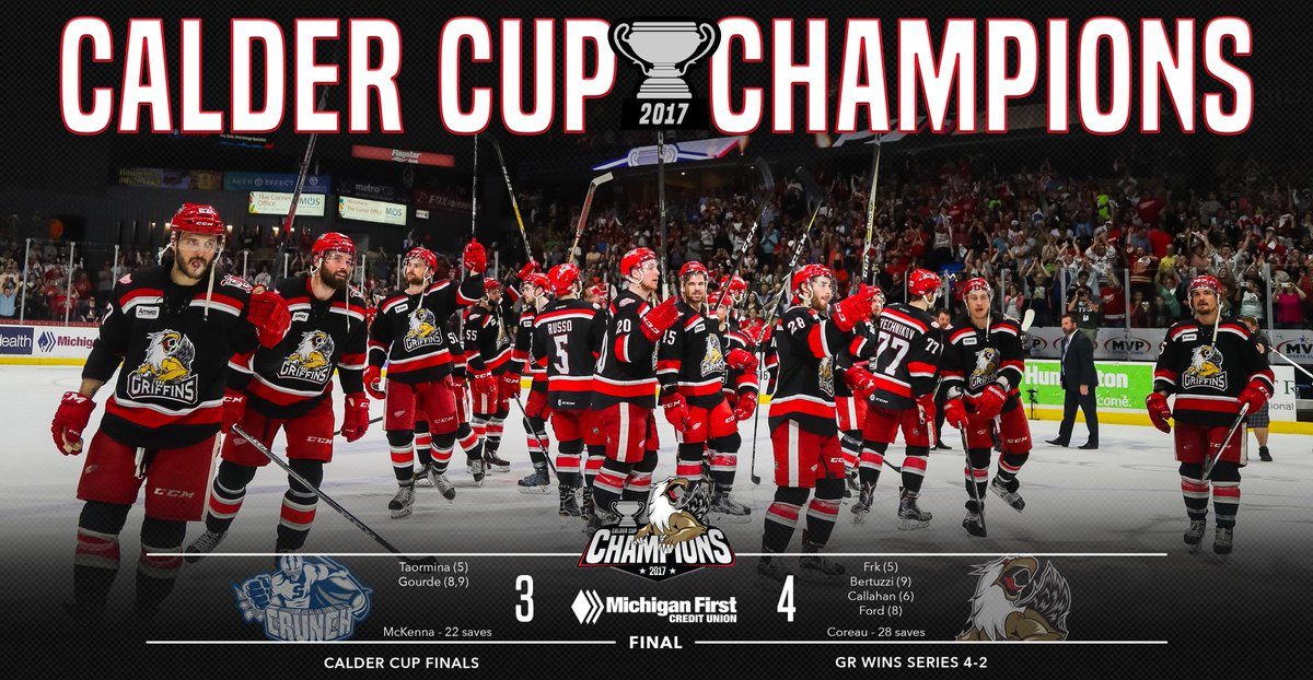 THE CALDER CUP HAS RETURNED TO THE CALDER CITY!