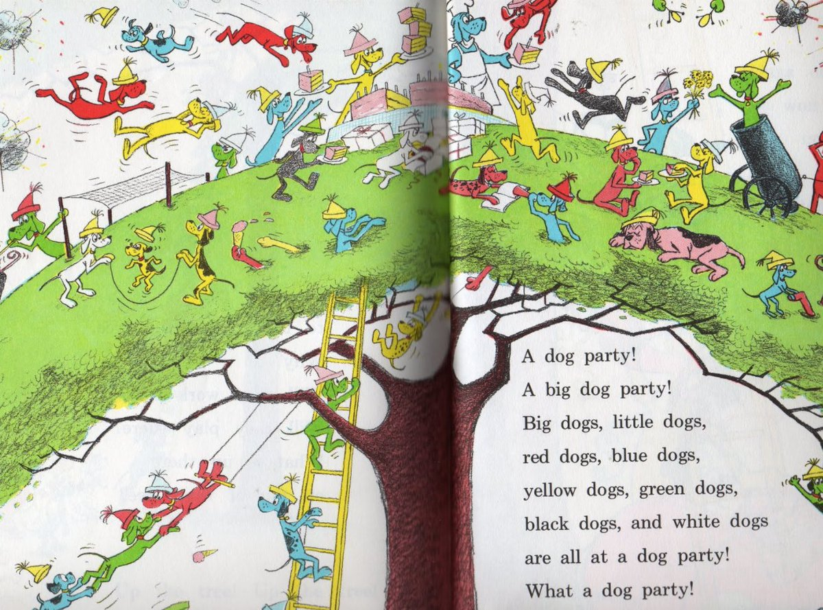 Peter H Reynolds On Twitter This Double Page Spread Fascinated Me As A Child From Go Dog Go I Loved P D Eastman Books What Images From Childhood Books Stick W U Https T Co 6m8lqlxjly