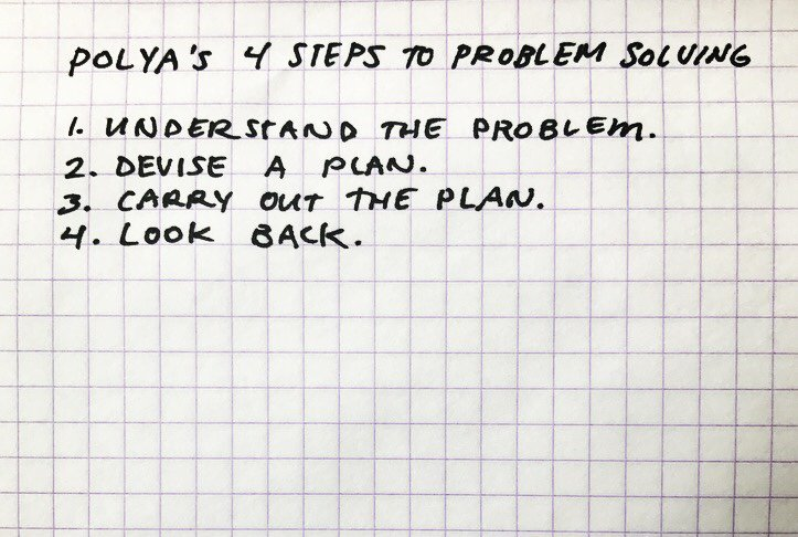 """Tonight our questions will be framed around George Polya's steps for Problem Solving, from """"How to Solve It."""" #ScratchEdChat https://t.co/Tv6TfxXtG7"""