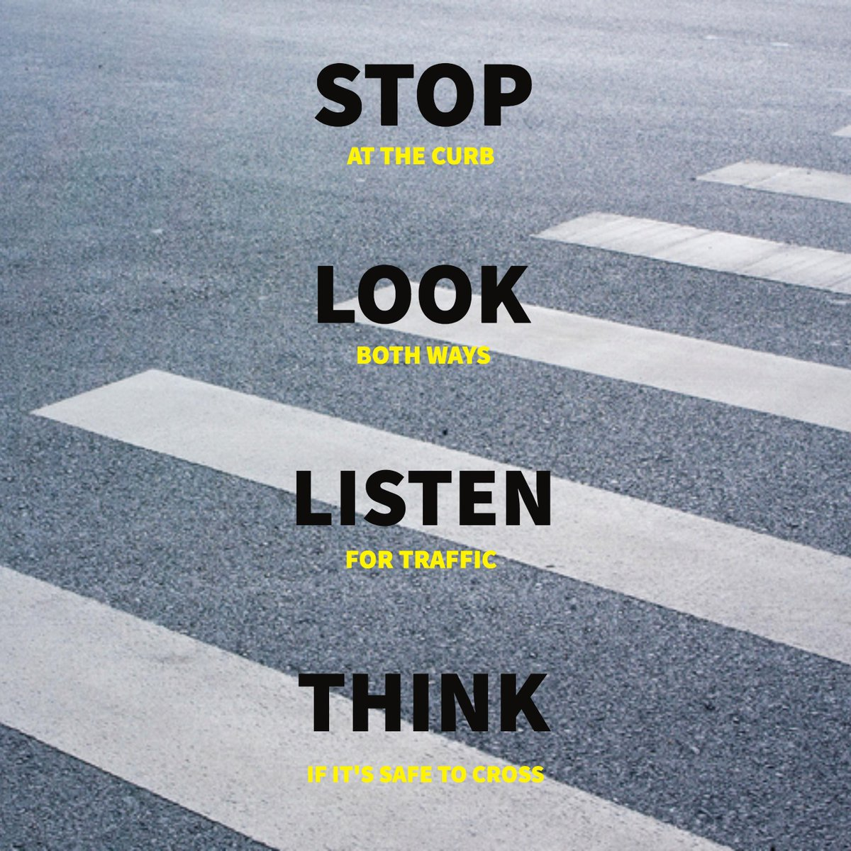 Image result for stop look listen think
