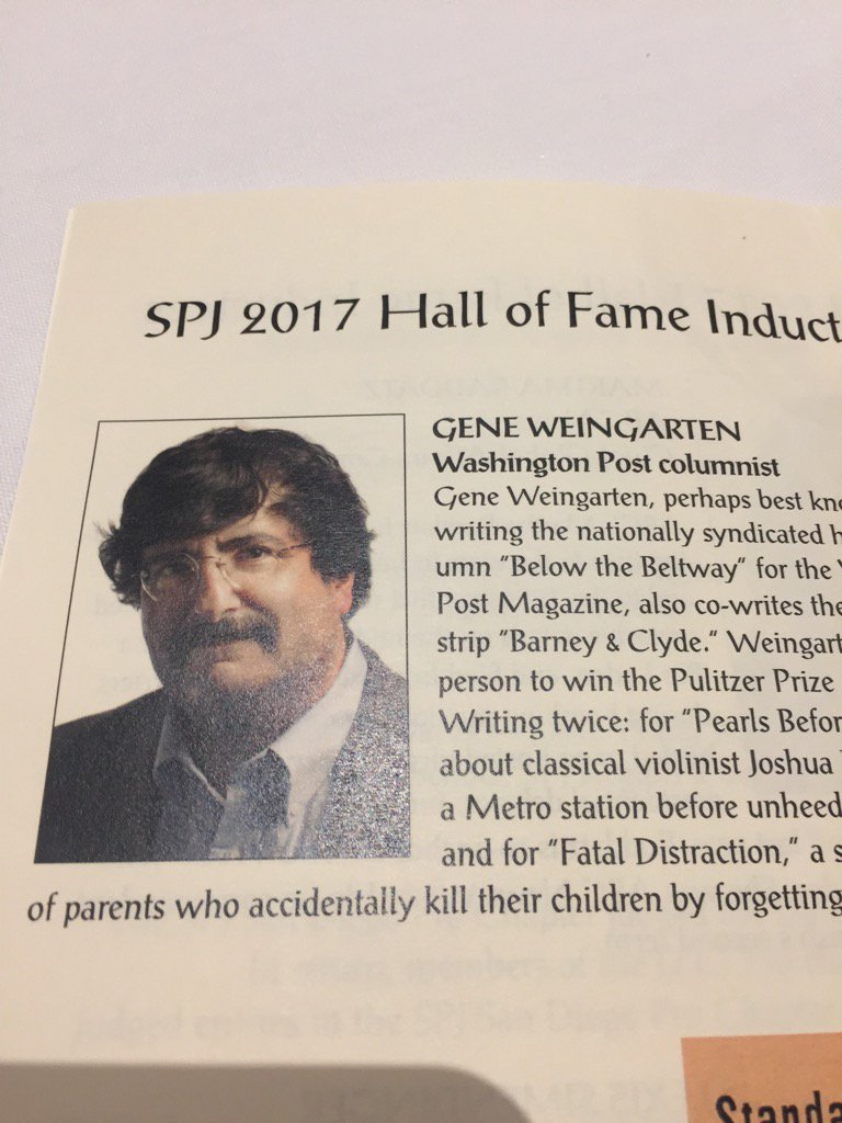 """Is Gene still alive?"" @rayadverb's tribute to his former @MiamiHerald colleague Gene Weingarten, #dcspj17 inductee https://t.co/kYCbY24AB9"