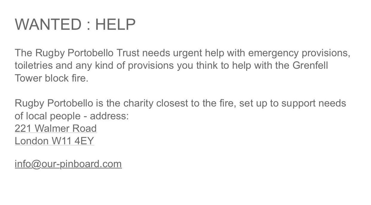 If you want to help... #grenfellfire https://t.co/1D0TGZMlHA