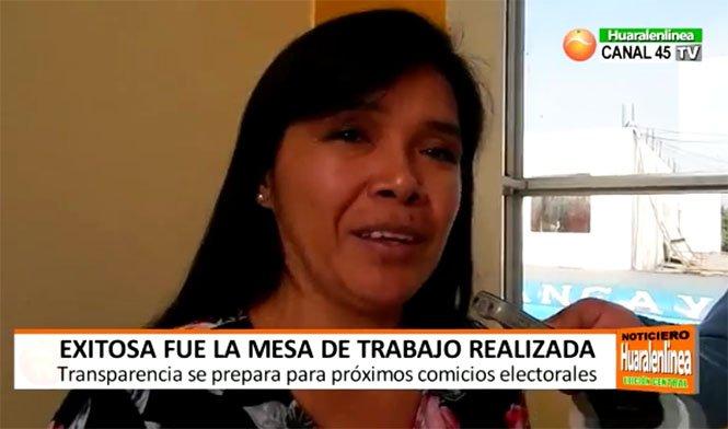 Luisa Guerrero: Exitosa fue la mesa de trabajo que realizó Transparencia en la ciudad de Huaral