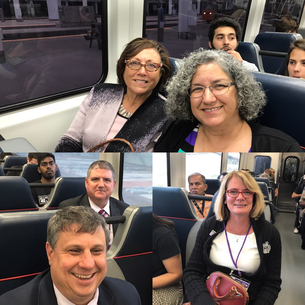 . @SuncoastCGLR @BronwynBeightol  @DrTBowden Taking the train 2 Downtown Denver 4 #GLRWeek Reception https://t.co/BbKmk4Gx8z