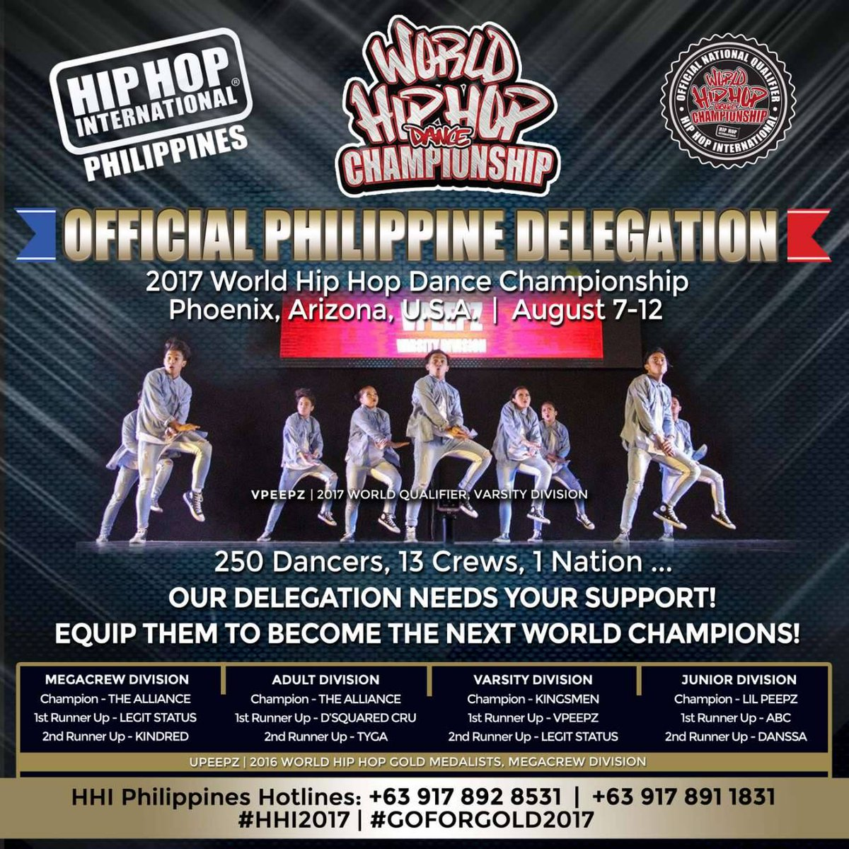 HipHop International On Twitter Hip Hop Philippines 2017 Varsity Crews Representing The HHI21017 HHIPH2017 HHI2017