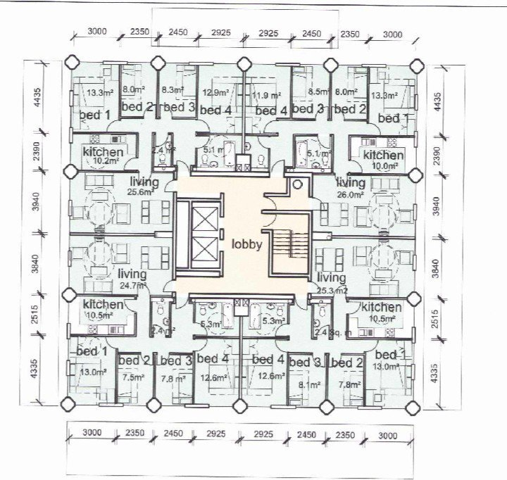 Mark ashley on twitter grenfell tower floor plan for Apartment building layout