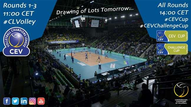 Know the teams that are going to rub shoulders in the #CEVCupM, #CEVCupW, and the #CEVCHallengeCup!  http:// bit.ly/2s8NWQy  &nbsp;  <br>http://pic.twitter.com/XD2fIBoRbn