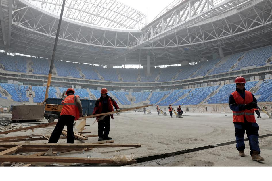 Thumbnail for World Cup Workers Abused And Cheated In Russia: HRW Daily Brief
