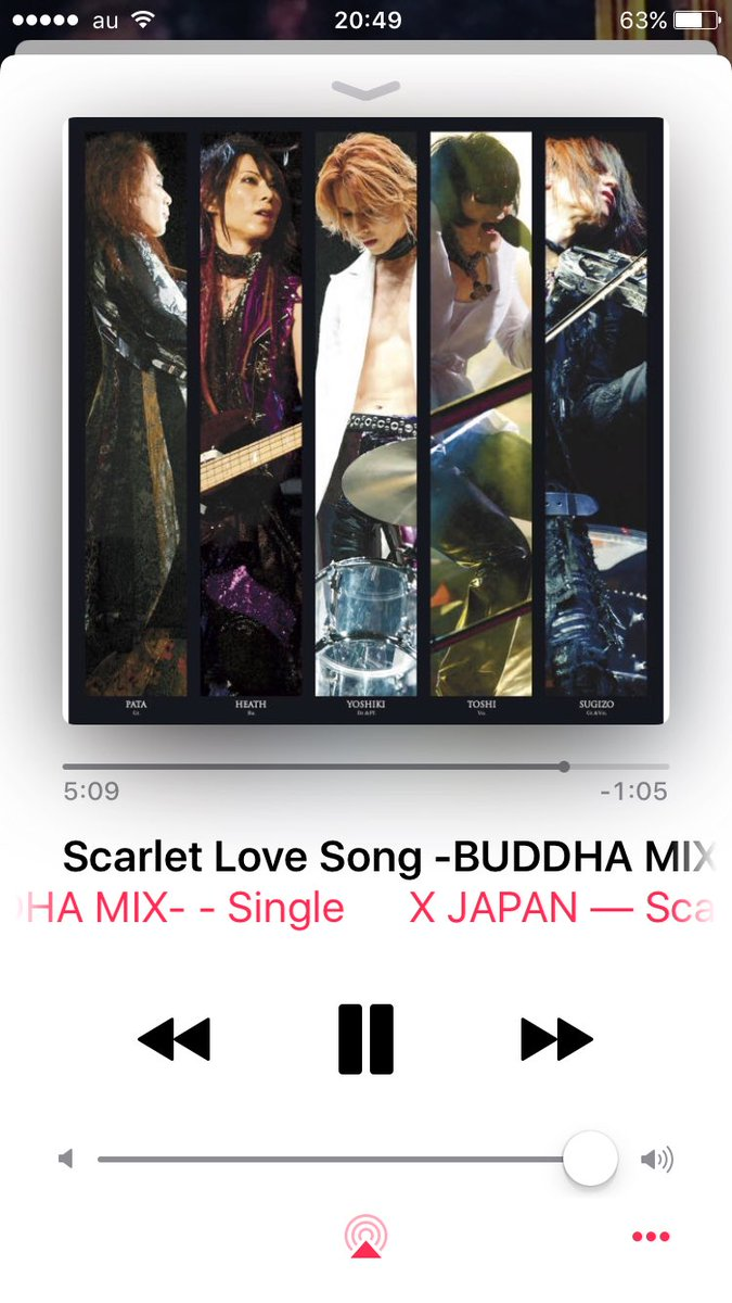 #NowPlaying   Scarlet Love Song  #XJAPAN <br>http://pic.twitter.com/qZVGBzXsiO