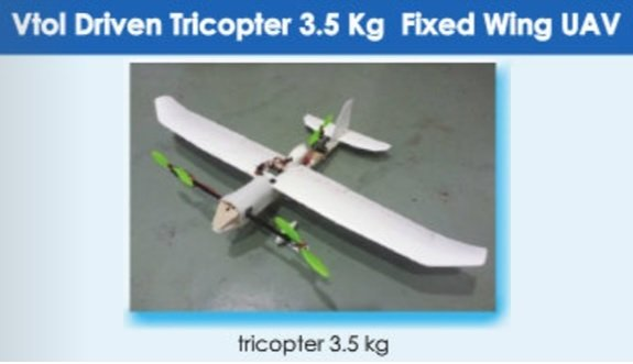 So Theres Yet Another Mini Drone From Indias State Owned National Aerospace Lab A VTOL Fixed Wing Tricopter
