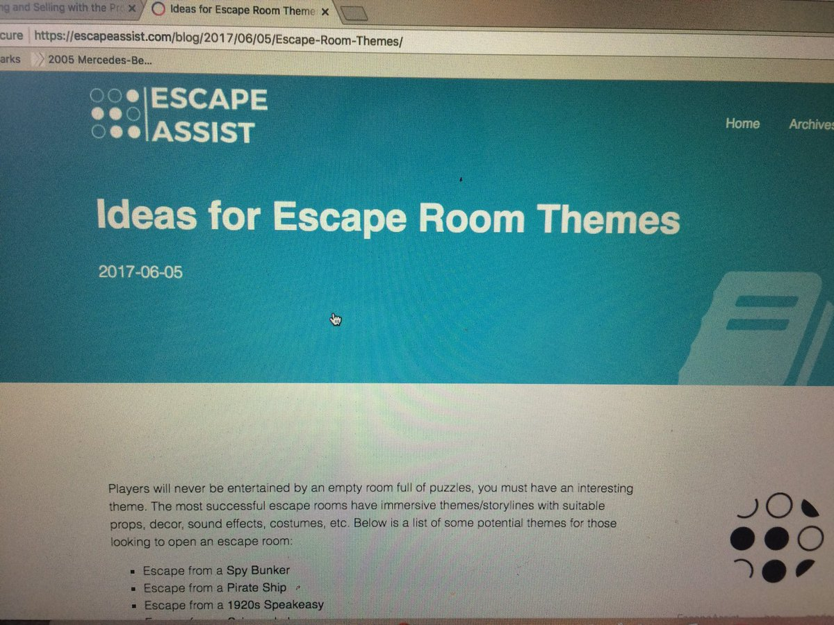 Escape Assist on Twitter: