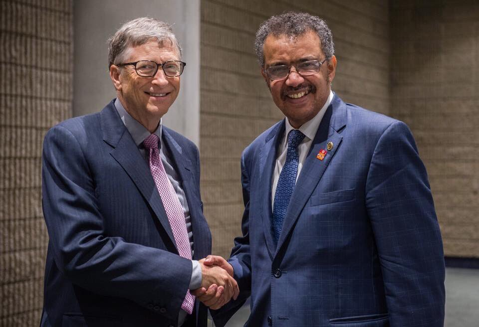 "World Health Organization (WHO) on Twitter: ""WHO Director-General elect Dr Tedros meets w/ Bill Gates & discussed on @WHO & @gatesfoundation collab initiatives on primary health care… https://t.co/B0635XguEx"""