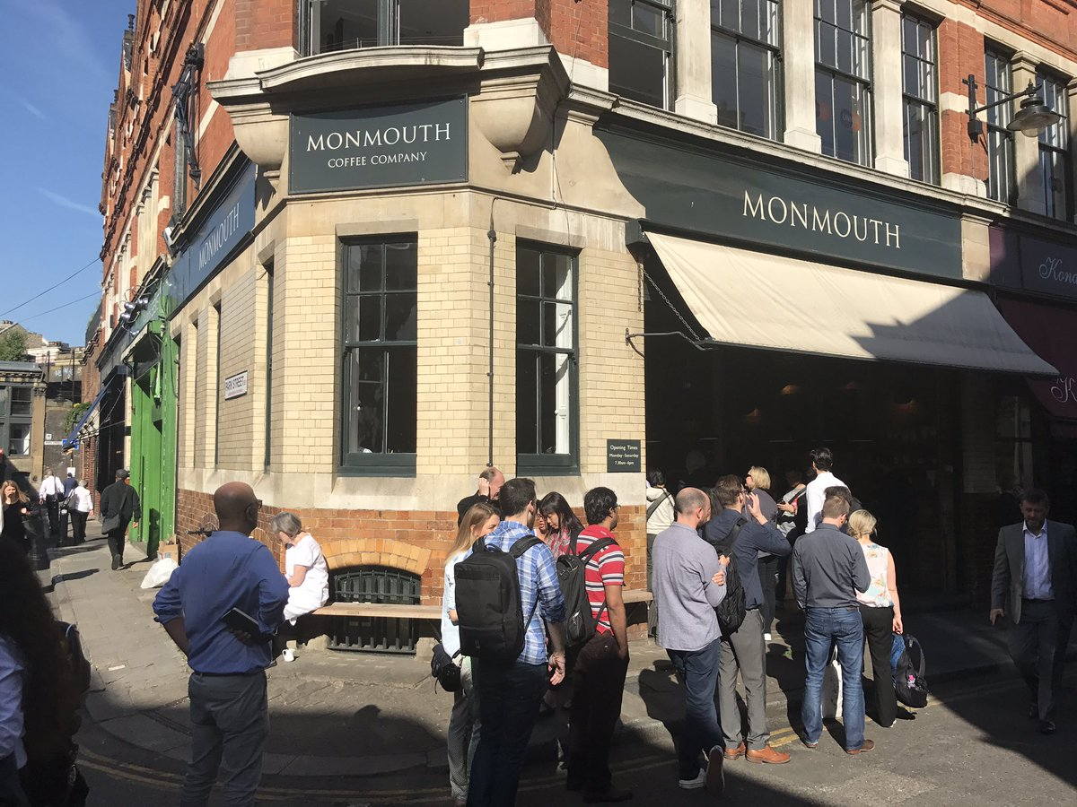 There's a queue outside Monmouth. Normality returns to Borough Market #loveborough https://t.co/nlw2GRFGCJ