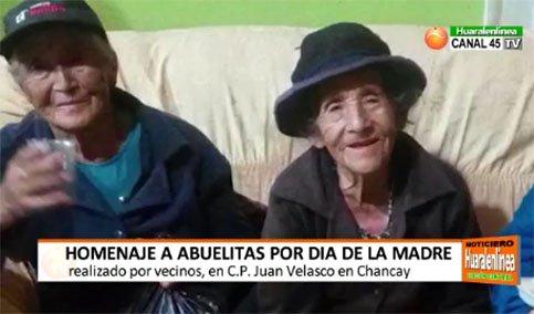 Recordamos agasajo que recibieron en mayo, humildes ancianitas del CP Juan Velasco.