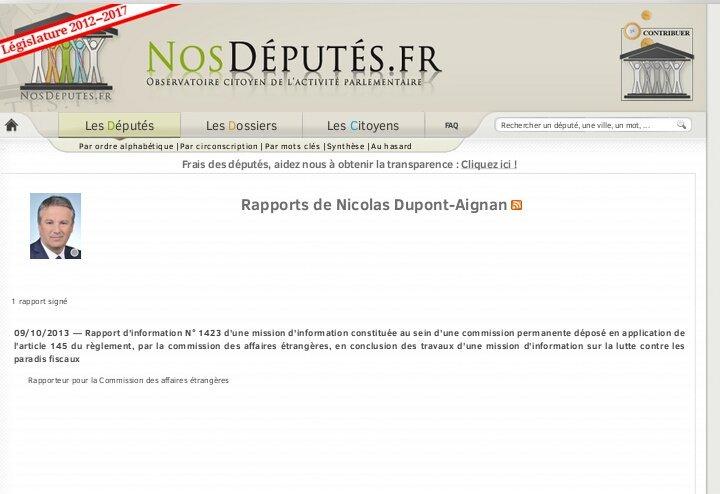 """""""Quand on a un bon député on le garde"""". Dernier rapport de #Dupont-Aignan =2013 #Circo9108 #Yerres #Montgeron #Brunoy #Crosne #Vigneux pic.twitter.com/TPXgAcM3Mn"""