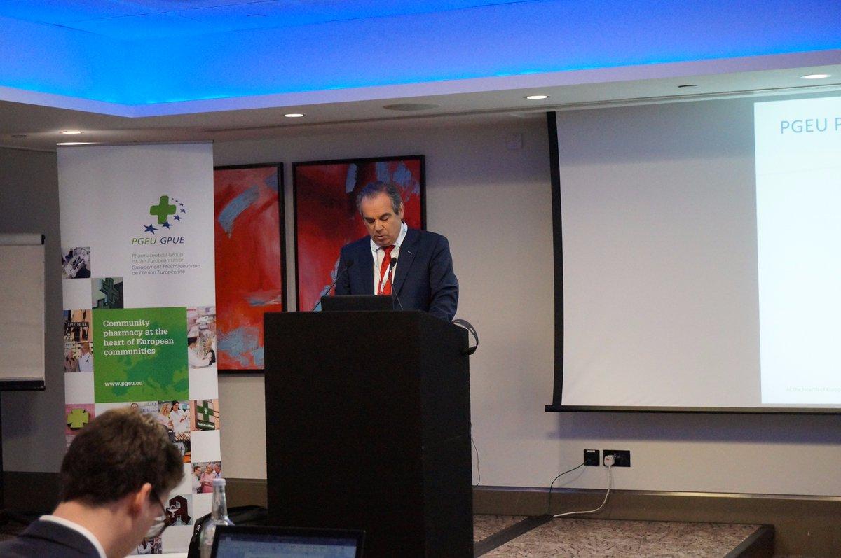 European Pharmacists elect Mr Jesus Aguilar Santamaria as PGEU President for 2018 @presidenteCGCOF @pgeu #pgeu2017 https://t.co/mzbI5MvfUz
