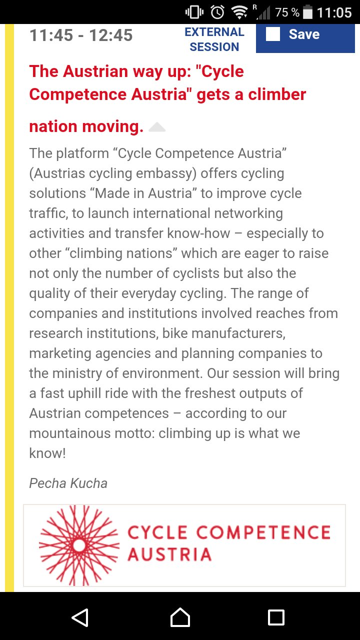 30 minutes to @CycleCompetence @Velocity2017 Austria on stage in green room 11:45h! With @gicycle_ @BikeCitizens @radlobby @klimaaktiv #VC17 https://t.co/mIejfHMUOA