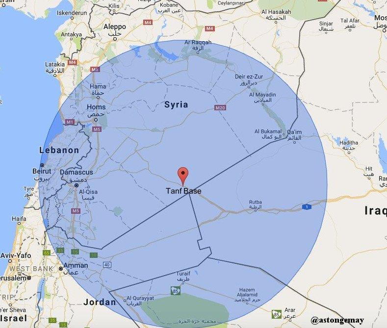 Resultado de imagen de cruce fronterizo de Al-Tanf,