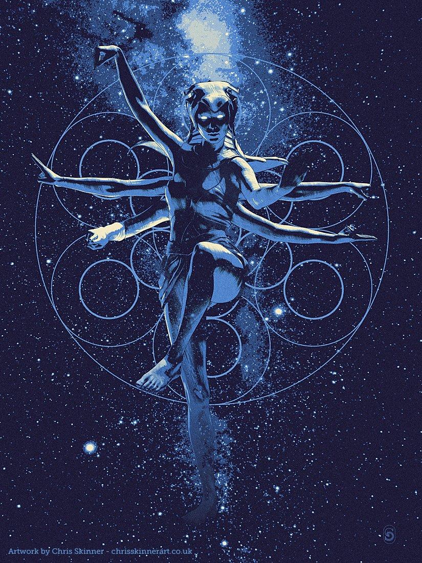 New illustration &#39;Celestial&#39;. #art #illustration #drawing #sciencefiction #celestial #Space<br>http://pic.twitter.com/IYRKB3DMca