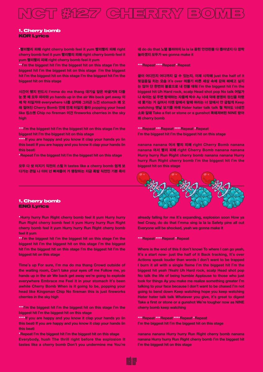 NCT 127 - Cherry Bomb Lyrics | Kagasa