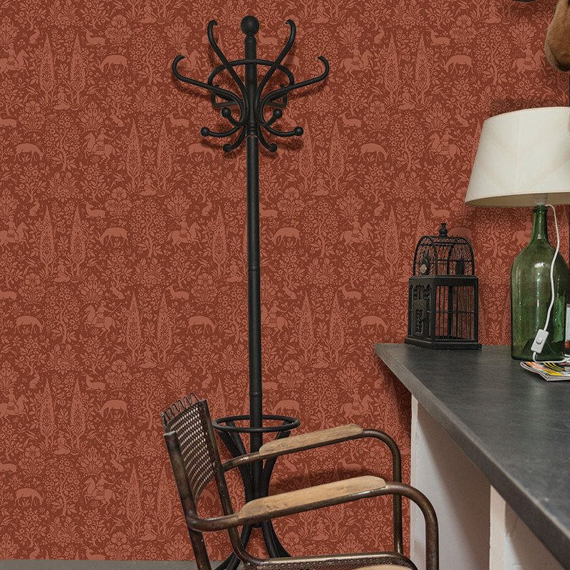 Go Wallpaper Ltd UK On Twitter Crown Woodland Floral Tco O3elTpxFKE Bluewallpaper Redwallpaper