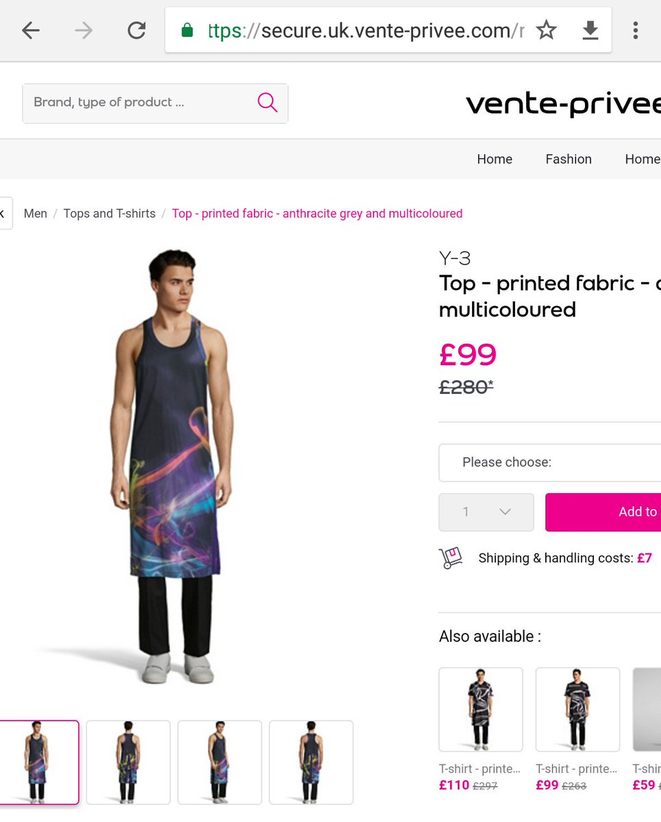 Ffs honestly, would anyone ever wear this? #Y3 #VentePrivee <br>http://pic.twitter.com/uxTp0LEUIe