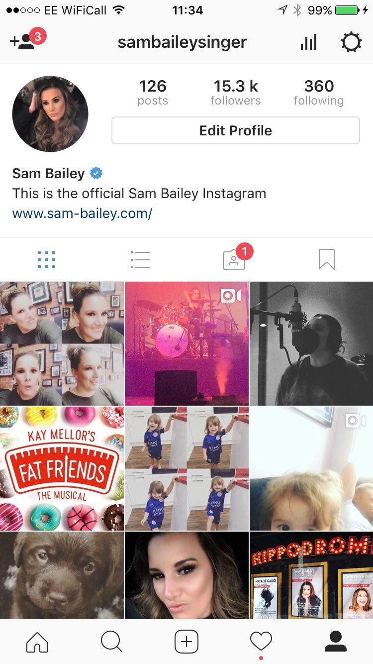 Follow me on Instagram @sambaileysinger https://t.co/fasJWnwgDR