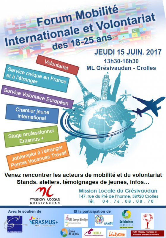 #SaveTheDate ✅15 juin 🚩Forum #Mobilité internationale et #Volontariat  18/25 ans by @MLGresivaudan  https://t.co/amukVaAlcA https://t.co/bQ5AjEpyMh