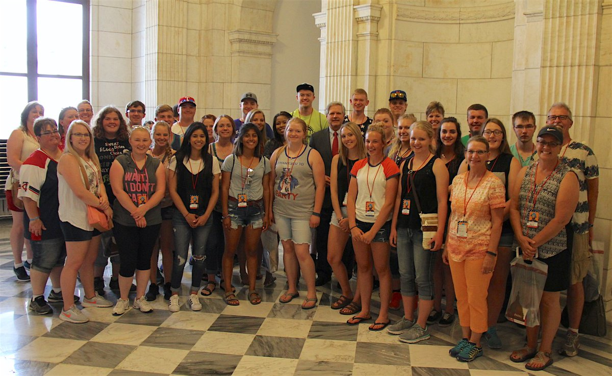 I was glad to see #students from #Stanley HS today. They are in DC to see the sights and head to NYC tomorrow.