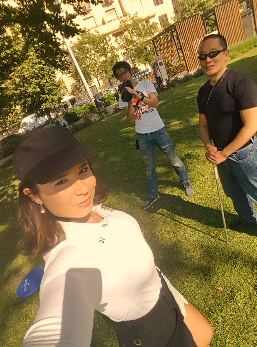 Today B/G shooting for a Japan Company . I was an innocent golf girl t...