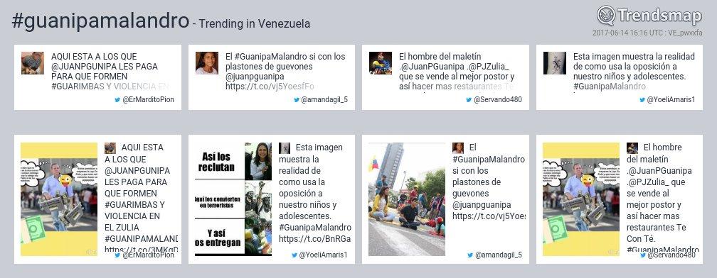 #guanipamalandro es ahora una tendencia en Venezuela  https://t.co/Tp2wlI9l0H https://t.co/yDDmfupcoj