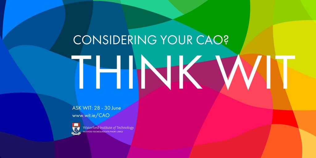 Before the #CAO deadline of 1 July check out our #CAO2017 hub  http:// cao.wit.ie  &nbsp;   #StudyatWIT<br>http://pic.twitter.com/o6zNylnzsw