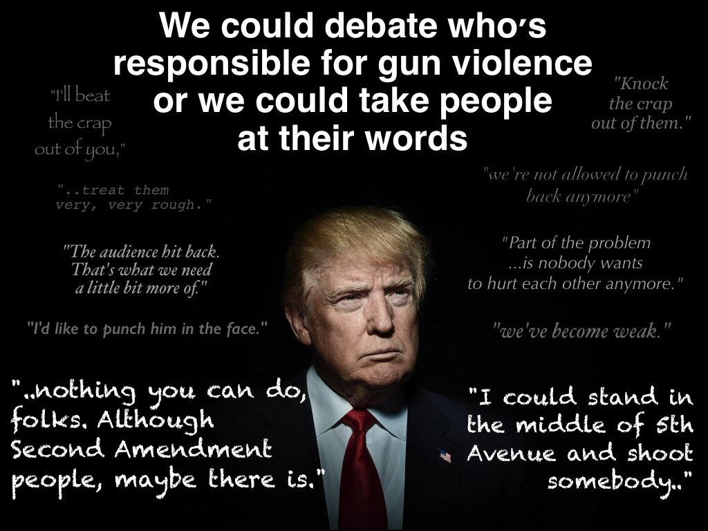 We could debate who's responsible for violence or we could take our leaders at their words https://t.co/pyQTmkkOcm