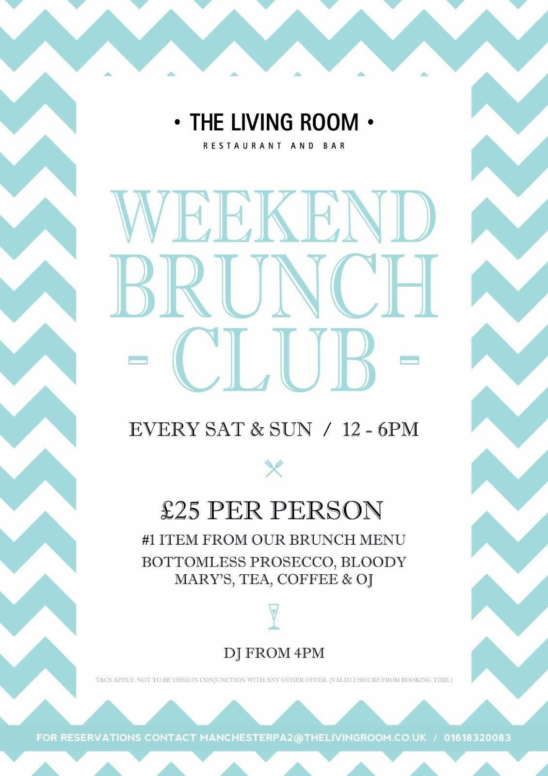The Living Room MCR On Twitter Our Bottomless Brunchs Are Causing A Bit Of Excitement If Your In Manchester This Weekend Why Not Book For