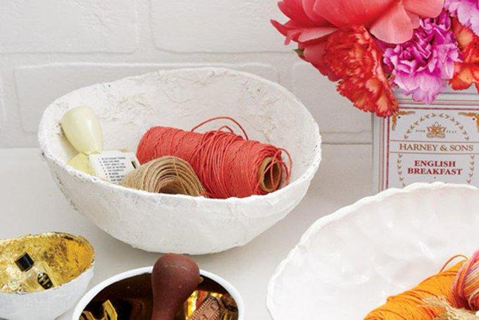 DIY project: Papier mache bowls