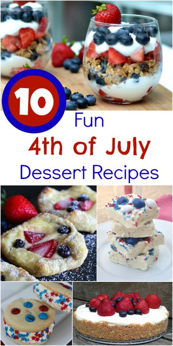 10 Fun 4th of July Dessert Recipes -