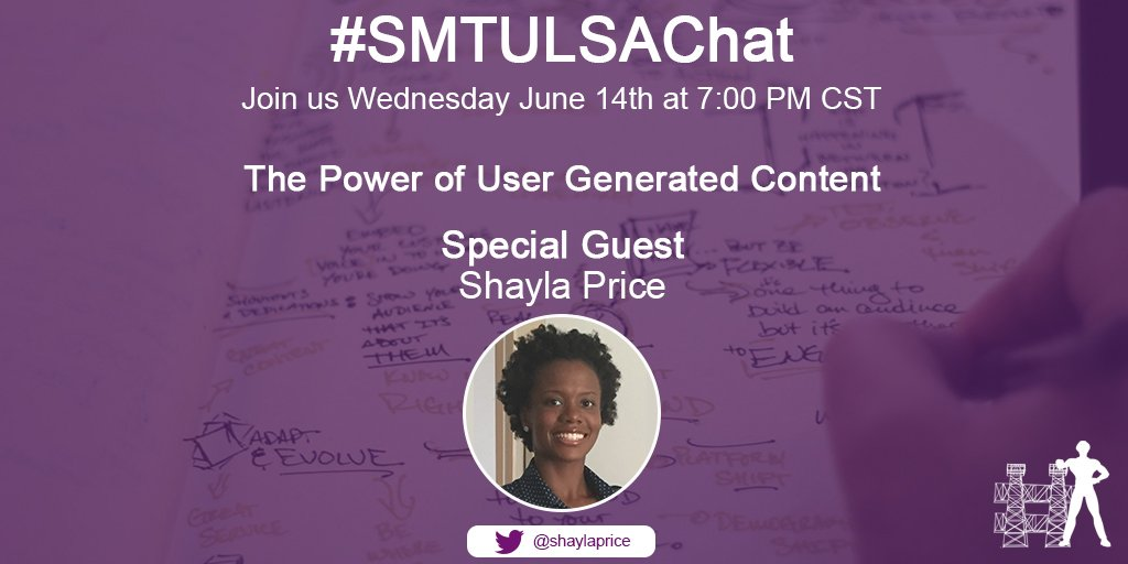 Join me TONIGHT! #smtulsachat #UGC https://t.co/x4cZXwsLW3