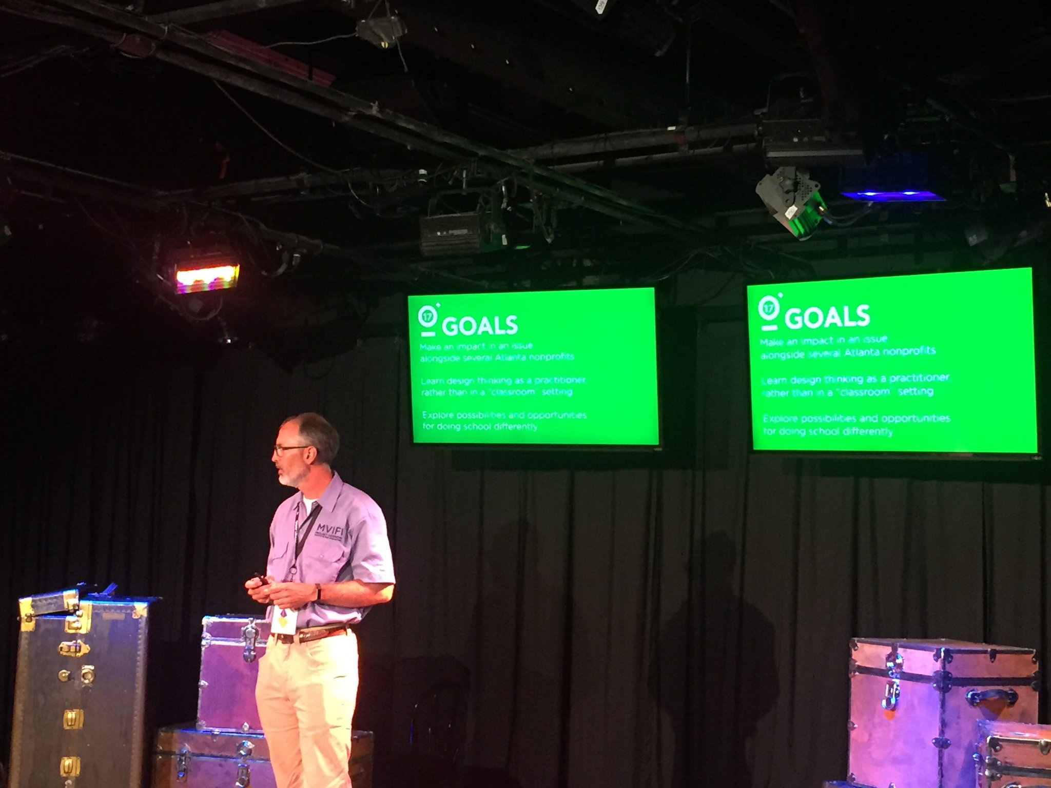 @boadams1 opens #fuse17 with goals for 3 days: make an impact, learn dt by doing & explore doing school differently https://t.co/ahiGOoDvww