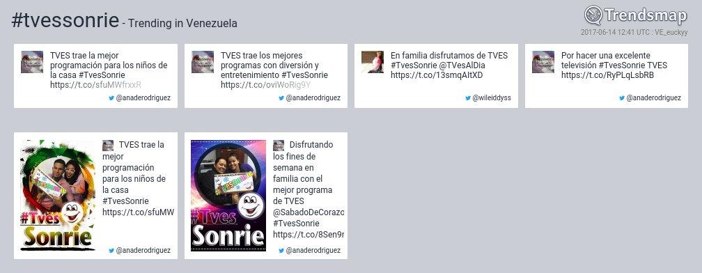 #tvessonrie es ahora una tendencia en Venezuela  https://t.co/UrxIOMDRK1 https://t.co/UioBrtAzbV