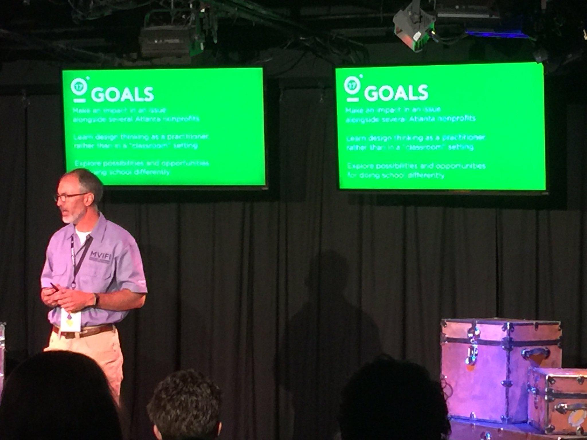 Goals: Help an Atlanta Non-Profit, Learn #designthinking, Window to what school might look like. #FUSE17 https://t.co/0IIMGEQajI