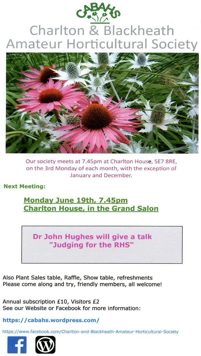 Monday, June 19th, join the Horticultural society in the Grand Salon. Details below!